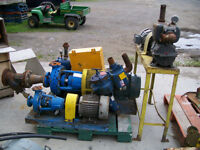 Electric motors with water pump