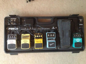 Pedal board with power supply