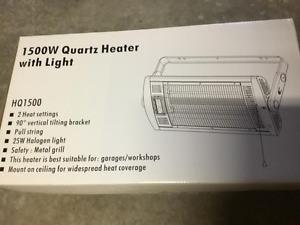 HQ 1500 W. Ceiling Mount, Quartz Heater