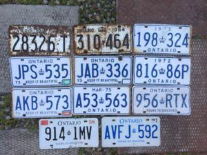Licence plates Ontario - various singles