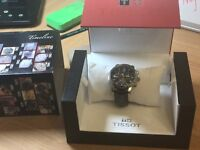 Tissot men's black watch prc200