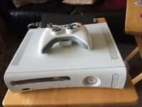 XBox 360 White with 2 controllers and 20 gig hard drive