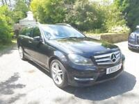 2013 13 REG Mercedes Benz C220 2.1CDI AMG SPORT PLUS 168bhp Auto 5 door ESTATE
