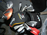 Cobra iron, driver and putters