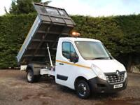 """2016 (16) RENAULT MASTER CCML35 R.W.D 10'9"""" ALLOY SIDED TIPPER PICK UP 125BHP"""