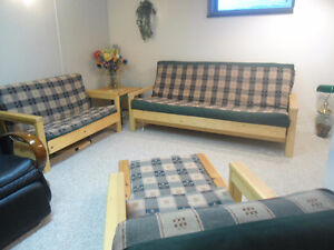 Queen Futton,Matching Twin & Chair ,Ottoman for Cottage /Rumpus