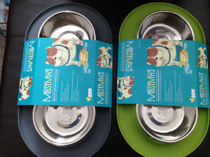 New! Messy Mutts green double silicone feeder set Kitchener / Waterloo Kitchener Area image 1