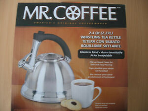 MR.COFFEE 2.4 qt. WHISTLING TEA KETTLE (NEW IN BOX)