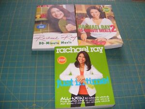 3 RACHAEL RAY COOKBOOKS - SELLING AS 1 LOT ONLY