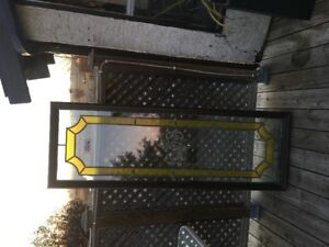 Stain Glass Door Insert - Set of two