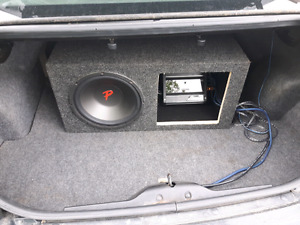 "12"" sub with amp and custom box"