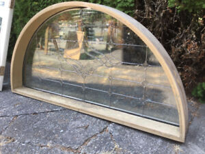 Arched Leaded Glass Window