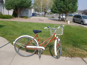 Older raleigh with  built in head light and tail light