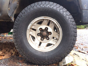 Brand new Motomaster total terrain a/t2 tires on rims