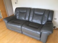 Leather recliner sofa and chair, excellent condition