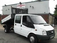 FORD TRANSIT CREW D/CAB TIPPER, EXCELLENT CONDITION, FULL DEALER FACILITIES!