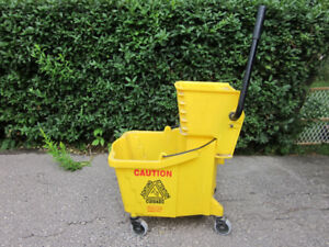 Mop Bucket With Side Press Wringer - $65