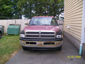1997 Ram 1500 red and grey Pickup Truck