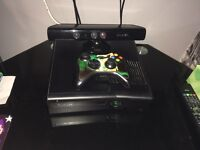 Xbox360 with Kinect and few games and 2 controls £80 Ono