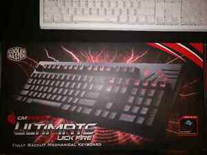 CM Storm Quickfire Ultimate Red Backlit (Cherry MX Blue)