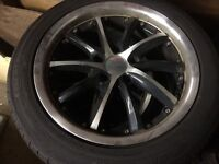 17 inch rims and tires, 5 bolt fits Honda Accord