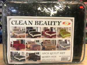 3 PC QUEEN SIZE QUILT SET FOR $49.99