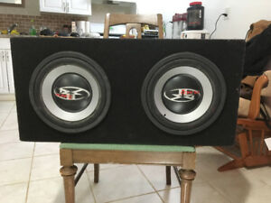 "2 10"" subs in box"