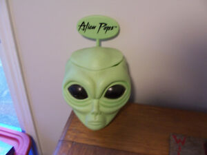 Vintage Alien Pops Candy Store Container