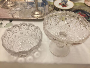 BEAUTIFUL Vintage ornate Glass bowls/Serving Dishes