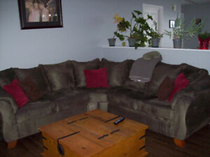 Used 2 piece Microfiber corner sectional for sale