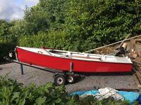 GP14 sailing dinghy