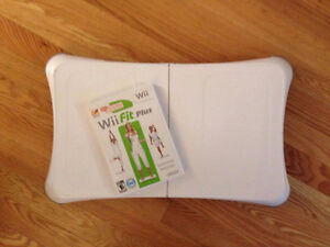 Wii Fit board and Wii Fit Plus game