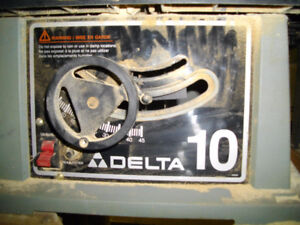 table saw delta 10 inch with rotor table and stand