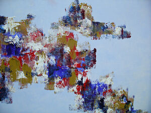 Large Abstract Painting, signed and dated Peterborough Peterborough Area image 3