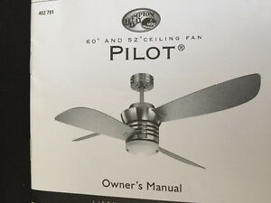 SALE. Pilot Blade Ceiling Fan in Brushed Nickel Finish