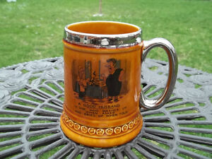 Lord Nelson Pottery vintage Stein Mug made in England husband