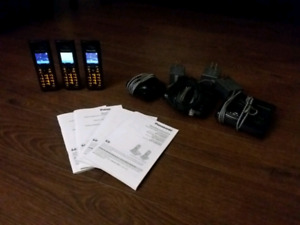 Panasonic cordless 3 phone set