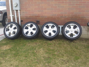 """22"""" Chrome wheels off Ford F -150 4x4  with tires  $800.00"""