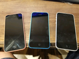 Three iPhone 5C for sale