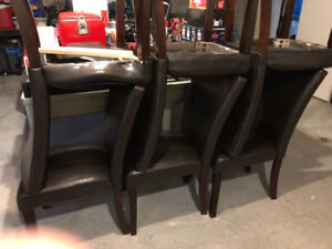 Expresso/ black Dining chairs leather