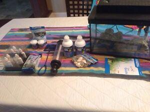 Used 5 gallon aquarium with accessories