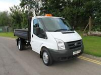2009 Ford Transit 350 Mwb C/C 100 Tipper 2.4 Manual Diesel 46,000 MILES NO VAT!!