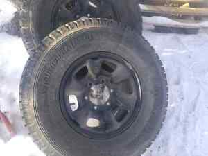 4 winter Yokohama tires and rims