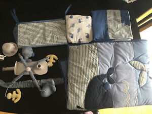 """Nautica """"Brody""""baby bedding set with  Mobile"""