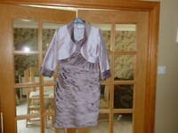 Mother of bride dress, jacket and hat by Condici. Immaculate condition.