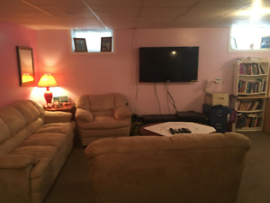 Basement bachelor Suite Fully Furnished-available april 1st