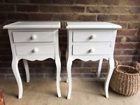 PAIR BEDSIDE TABLES FREE DELIVERY FRENCH PROVENCE