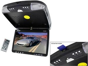 PYLE PLRD92 9'' Flip Down Roof Mount Car Monitor DVD Player +IR/FM Modulator