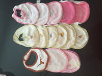 22 cotton baby bibs in very good condition
