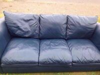 3 Seater Real Leather Sofa